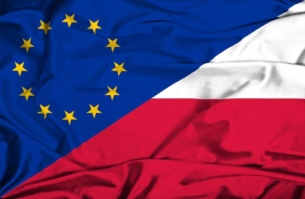 Флаг Польши и ЕС