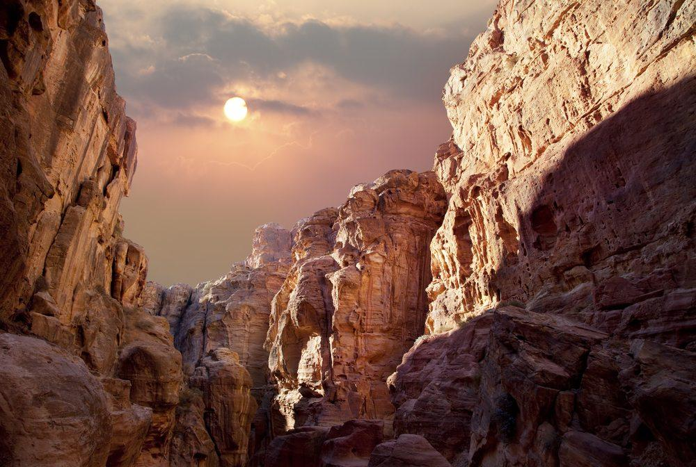 Вид на каньон Вади Рам, Иордания